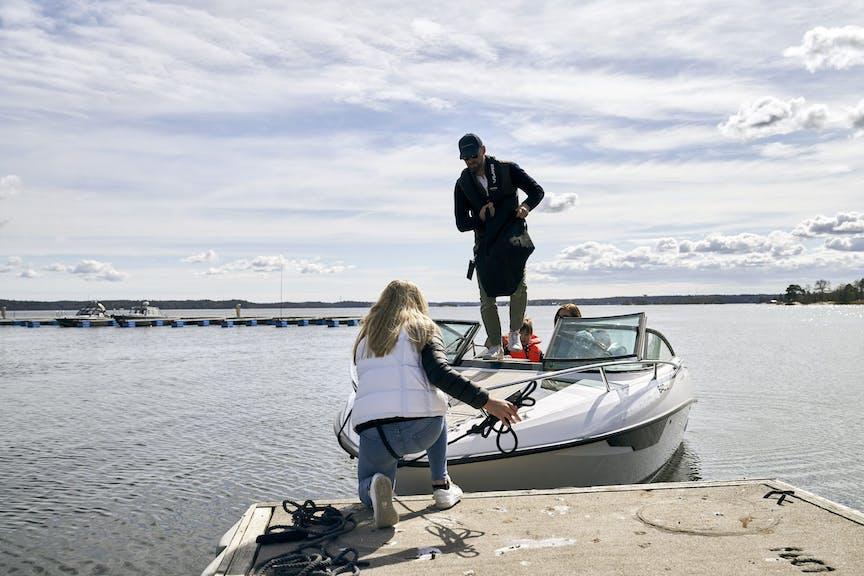 familj på sjön
