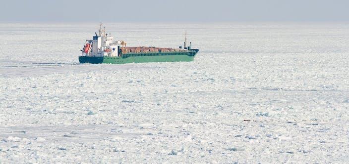 ship in ice, Baltic Sea, Europe_shutterstock_91249970