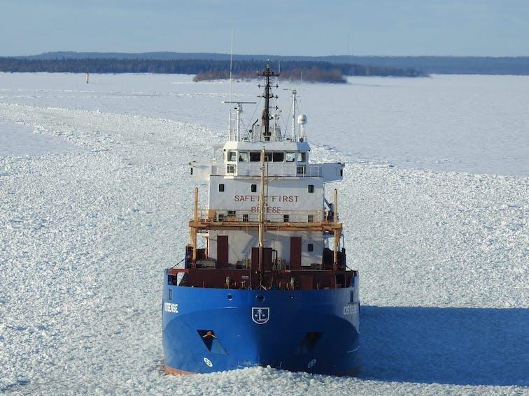 Ice breaker in ice